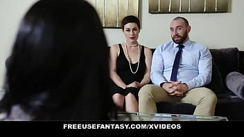 FreeUse Fantasy - Perfect Wife (Olive Glass) Pays the Babysitter (Alex Coal) to Fuck Her Husband