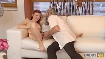 DADDY4K. Stud catches daddy fingering his girlfriend and quickly joins them