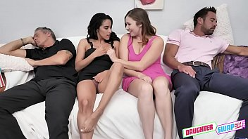 Cinephile Cum Swapping - Stephie Staar, Adrian Hush - FULL SCENE on http://DaughterSwap3X.com