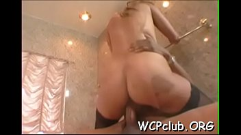 Slutty white beauty has interracial pounding with black...