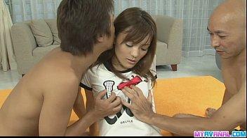 Best threesome with Nagisa stuffed full of cocks