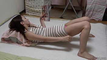 Nonoka Saki Masturbates While Reading A Porn Magazine