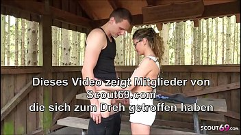 Anal Sex for German MILF Teacher with Young Guy in Forest