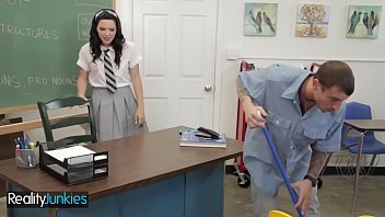 (Petite Dirty) schoolgirl fucks in uniform - Reality Junkies