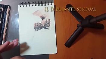 Drawing nude skectching Practica sensual