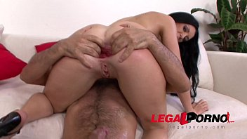 Isabella Clark anal stretching with gigantic dildos before HARD gangbang