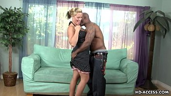 Busty blonde girl hardcore interracial sex