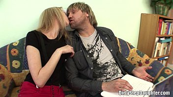 Pretty Blonde Stepdaughter Fucks Stepdad In The Couch 29 min