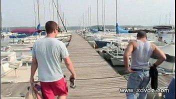 Guys In Party Mood Take Lovely Brunette In Bikini On A Boat Trip thumbnail