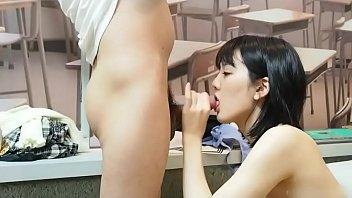 Beautiful Asian girls and boyfriends play unifo...