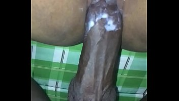 Tight pussy cums on 10 inch dick
