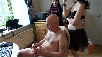 Femdom women punish man Ulf larsen punished by two young women