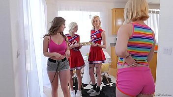 Amateur group lez Lesbian cheerleaders make special cookies - eliza jane, lena paul