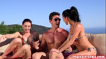 Bikini usa myspace Glam bikini babes doggystyled in outdoor trio