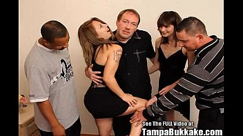 Teen School Sluts Bukkake Group Fuck Party!