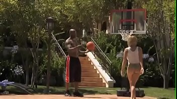 Nat Turnher & Krissy Lynn Interracial Pool and Basketball Sex