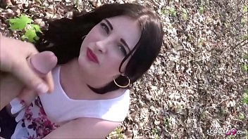 German College Teen Elisa Seduce to Fuck in Park in Berlin