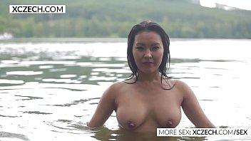 Busty swim babe - Beautiful asian water nymph making erotic swimming - xczech.com