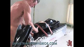 Tied up slave gets caned and whipped in b. bondage