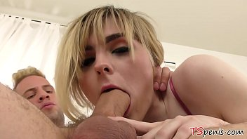Queen shemale vids Ts queen ella hollywood enjoys the thick white dick so much, she is hard all the way.