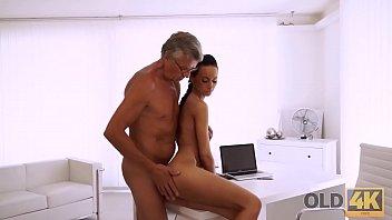 OLD4K. Nice secretary Liliane cant wait to taste old boss dick