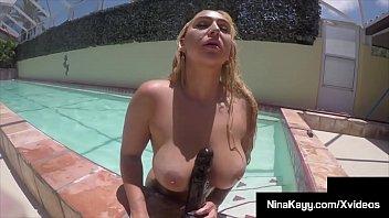 Wild & Wet Nina Kayy Masturbates Her Soaked Snatch Under Water!