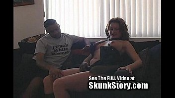 Red Head Stretched by 2 Big Black Dicks! thumbnail