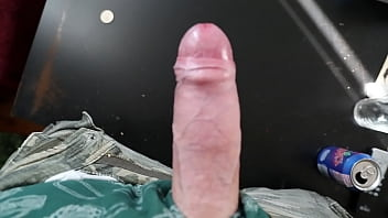 Free gay jacking off pics - Masturbating hands-free big cock cum huge load