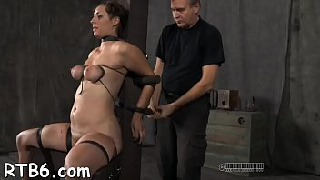 Tied sex vids - Beautiful slaves are tied and given hardcore bdsm castigation