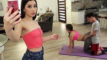 Mom And Step Son Do Yoga Together Aria Lee, Lexi Luna