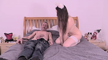 Ahegao Mittens The Kitten Gets Fucked Hard By Step Daddy With Big Cock Pet Play
