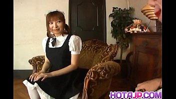 Runna Sakai Naughty Asian Waitress Gets Legs Spread For Pussy Play