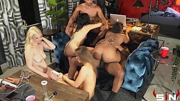 Impromptu Pornstar Orgy
