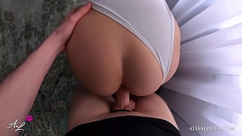Brunette Tinder Date with Perfect Ass Fucked Hard in Doggystyle POV - Alisa Lovely