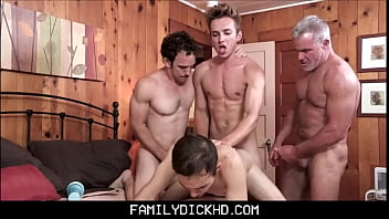 Free gay thai boy bars Twink step son punish family fucked by grandpa, dad and brother