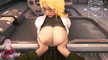 Cock sex between boobs. PC gameplay 3D. Anime sex 3 min