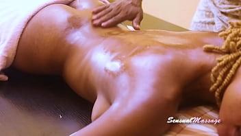 Wild sex on the massage table