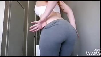 Girl ass teasing and dancing 3