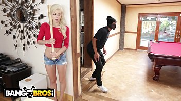 BANGBROS - Petite Teen Elsa Jean VS Home Invader Ricky Johnson