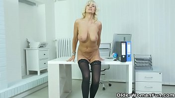 Ladys sexy boots Euro milf mia gets naughty in leather dress and boots