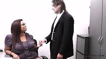 Black BBW secretary ruins engagemen HD; bbw, ebony, office, secretary, titty-fuck, big-tits, big-ass 30 min
