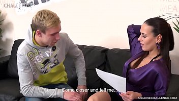 Blonde newcomer aprooved by pornstar Mea Melone 8 min