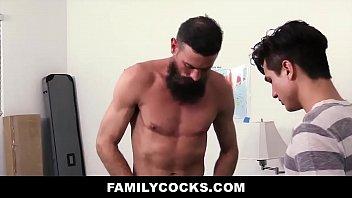 Daddy Bear Teaches Virgin Stepson How To Suck And Fuck - FAMILYCOCKS.COM