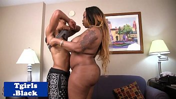 BBW black shemale doggystyled buttfucked porn image