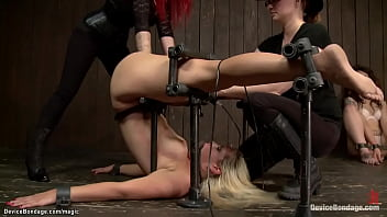 Blonde In Device Bondage Fisted