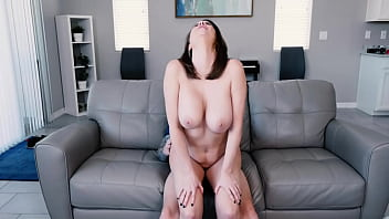 Reverse Cowgirl Couch Sex With Stepmother