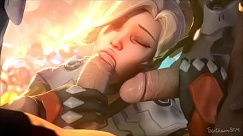 Overwatch Mercy Double Dicked