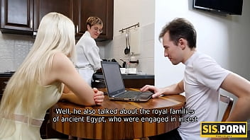 SIS.PORN. Housewife doesnt know stepdaughter satisfies the stepbrother 10 min