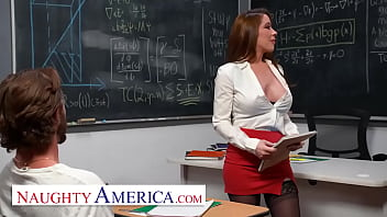 Naughty America - Professor Bianca Burke is beyond flattered when she finds out her student has been thinking of her and drawing her naked