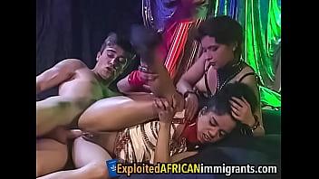Ebony Slut and Housewife Anal Swingers